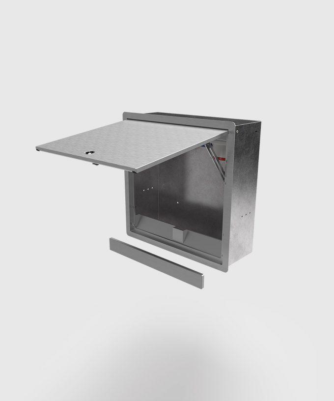 Wandverteiler 5523A verschließbar Deckel-Tür offen mit Kabelauslass