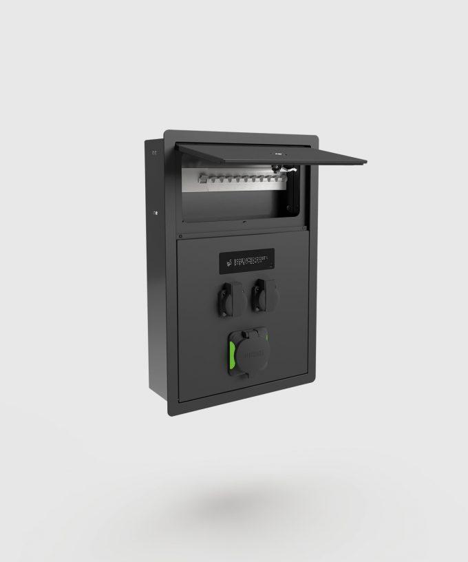 Wandladestation Ladestation 5802A für das E-Auto abschließbare Sicherung