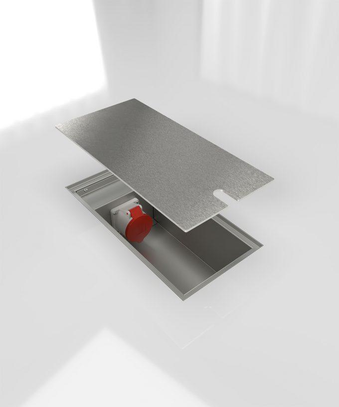 CEE-Bodentank 6400E im Boden eingebaut Deckel offen