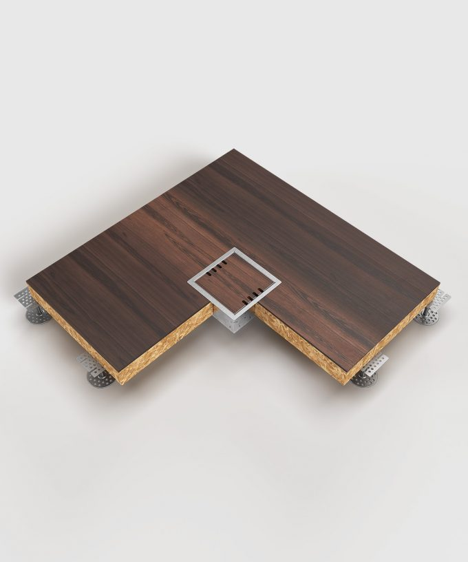 Hohlbodentank 8508B im Hohlboden eingebaut Deckel geschlossen Ansicht Totale